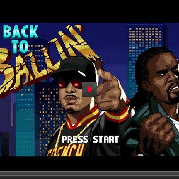 This Wale French Montana #sega video artwork is outstanding #backtoballin