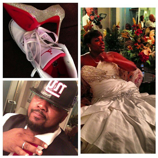 Big shout out to @thatsbroadway and @imused2winning on their #wedding today. #Salute brother