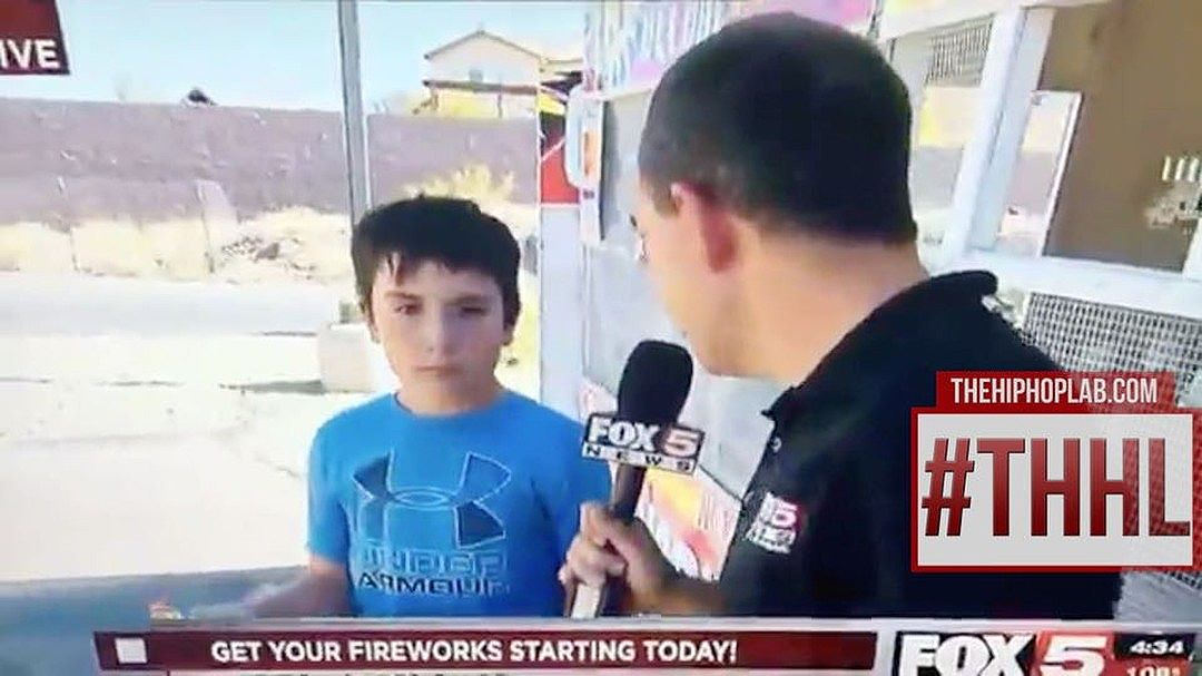 This lil boy crushed this new reporters soul
