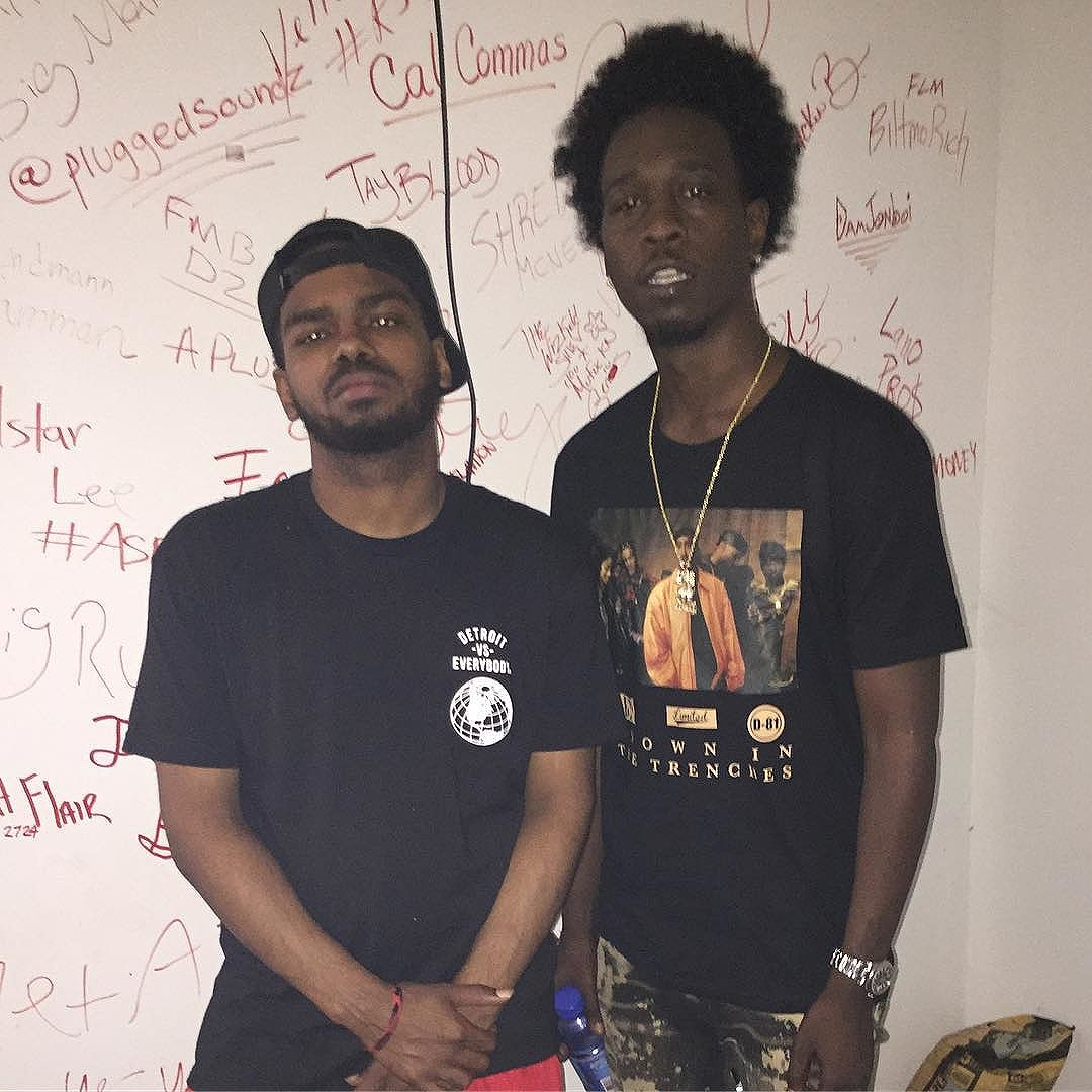 My dawg @allstarjr2724 came thru & blessed my first album dropping next month.