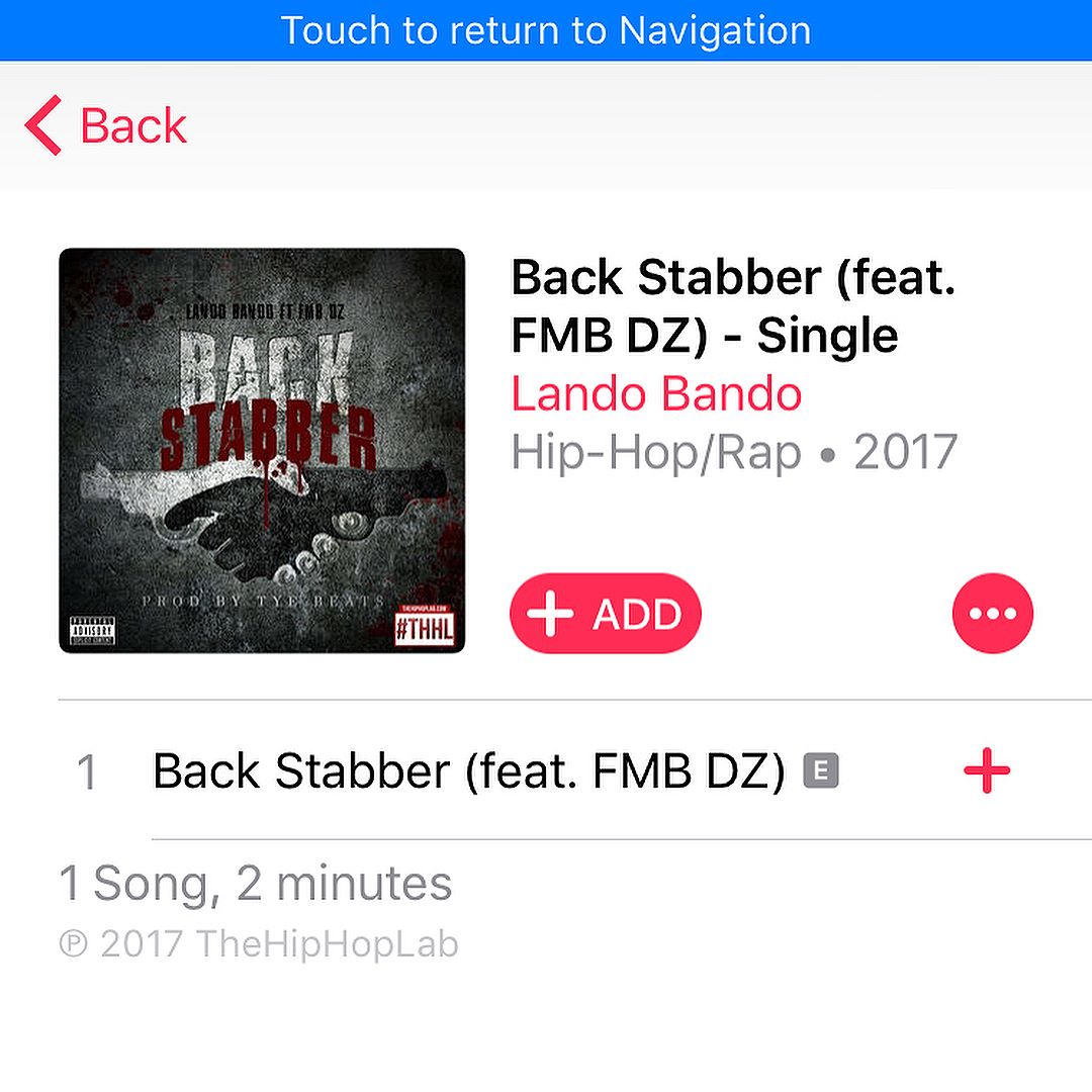 My first single #BackStabbers Ft @fmb_dz prod by @tyebeats_ is out now on @applemusic | #DontLetYoBitchHearThis dropping 8/30