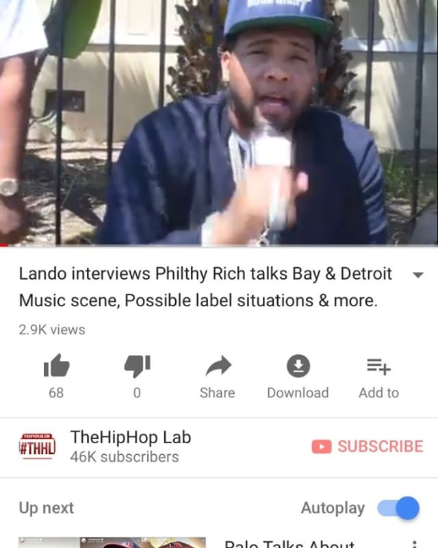 Go watch our new interview with @philthyrichfod and grab that #SemGod out now | New interviews dropping everyday this week Youtube.com/TheHipHopLab