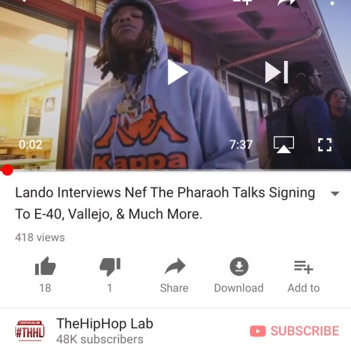 Vallejo's @nefthepharaoh interview out now on @thehiphoplab YouTube | #THHL