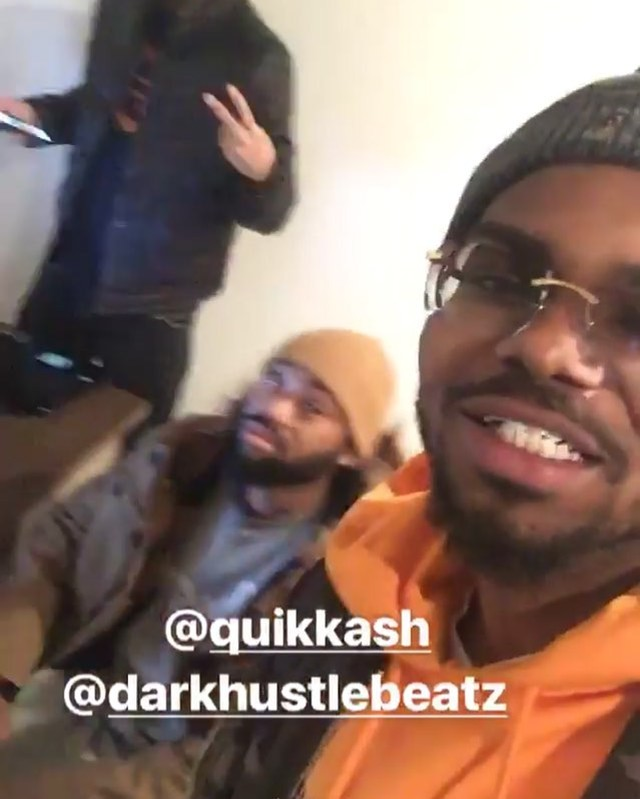 @quikkash & @darkhustlebeatz came thru #THHL for a consultation to learn how to make the most money off their music. Can't go into 2018 missing Money you already earned 🤷🏾♂️