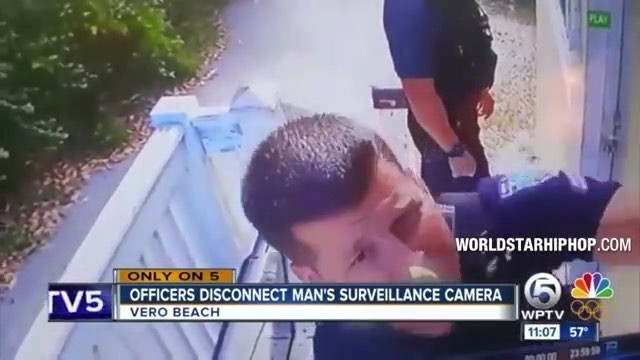 Two #Florida Police officers under investigation after unplugging a home security camera while arriving to a call.