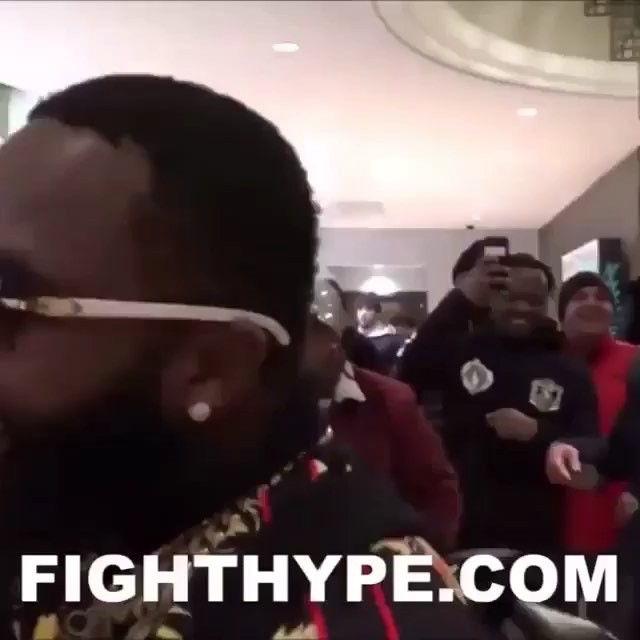 #adrienbroner (With the buffs on)  says he's tired of #floydmayweather's Fake love