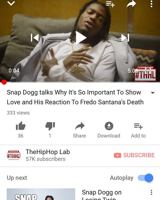 New #SnapDogg interview out now on @thehiphoplab Youtube. & TheHipHipLab.com. @snapdogg been around the world did interviews with the biggest platforms in the music but he always make sure he get with me and get a new interviews in because I gave him his 1st interview ever back in #2015 and that's  you know you always got my support. #KeepItRealIsFree