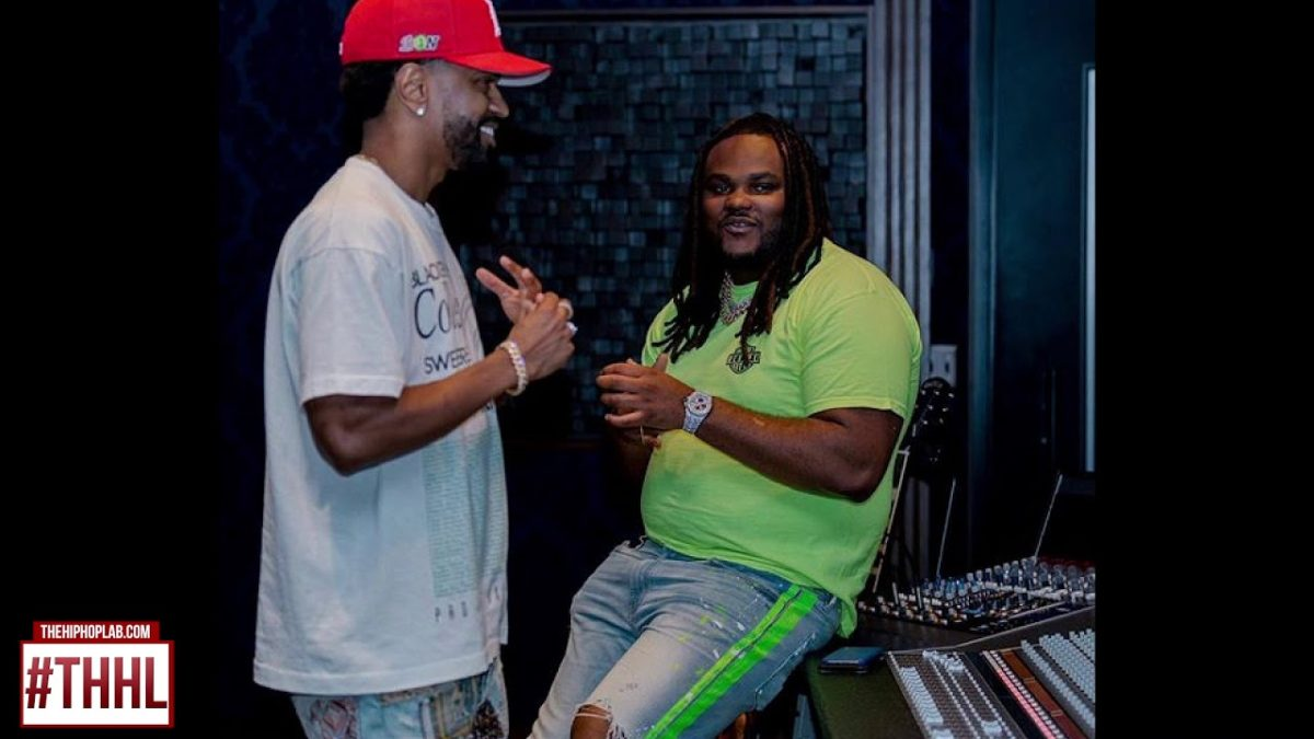 Peezy-Spotted-With-50-Cent-Tee-Grizzley-In-The-Studio-With-Big-Sean